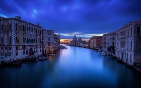 Картинка небо, облака, спокойствие, Венеция, канал, photographer, вечереет, Guerel Sahin