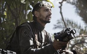 Картинка cinema, Star Wars, logo, forest, actor, man, movie, film, uniform, seifuku, rebel, spin-off, Rogue One: ...