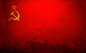 Обои красный, флаг, СССР
