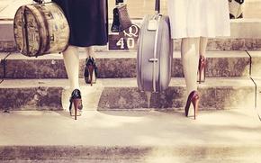 Картинка ретро, туфли, каблуки, винтаж
