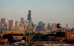 Картинка город, небоскребы, панорама, чикаго, Chicago