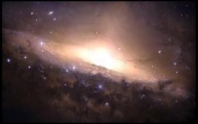Обои Галактика, свет, звезды