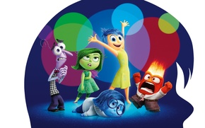 Картинка fire, monster, dress, girls, cartoon, sadness, boys, movie, men, fear, glasses, joy, female, head, adventure, …