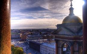 Обои Санкт-Петербург, дорога, колонны, Исаакиевский собор, Питер