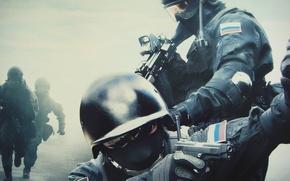 Обои оружие, спецназ, мужики, российский