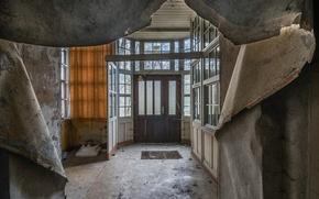 Картинка комната, окна, двери