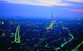 Картинка Париж, Огни, Ночь