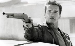 Обои Терминатор 2, мужик, Arnold Schwarzenegger, актер, Judgment Day, Terminator 2, Судный день, The Terminator, Арнольд ...