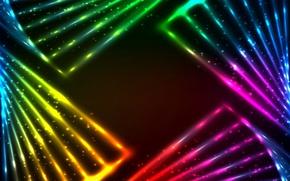 Обои abstract, background, lights, rainbow, colors, vector