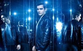 Обои постер, отражение, куртка, Now You See Me 2, Dave Franco, синева, зеркала, Дэйв Франко, Иллюзия ...