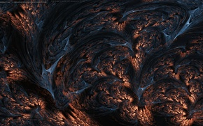 Картинка скалы, фракталы, лава, lava flow