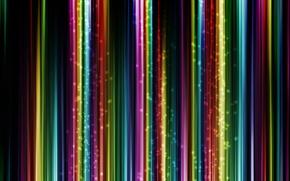 Обои полосы, свечение, разноцветные