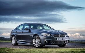 Обои 2015, Sedan, F10, чрный, BMW, бмв