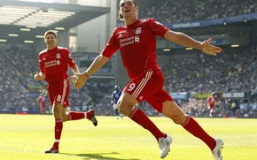 Обои ливерпуль, gerrard, liverpool, суарез, carrol, barclays premier league wallpapers hd, английская премер лига, gudison park, ...