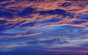 Картинка лето, облака, фон, вечер, заставка, заря