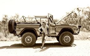 Картинка ford, Girls, Off Road, Bronco