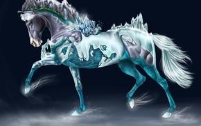Картинка конь, арт, сказочное животное