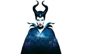 Картинка Анджелина Джоли, Angelina Jolie, рога, Maleficent, Малефисента