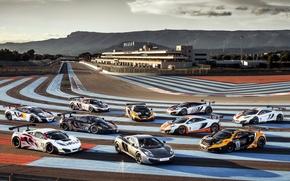 Картинка небо, McLaren, суперкар, гоночный трек, MP4-12C, Paul Ricard, мп4-12с, МакЛарен, Поль Рикар