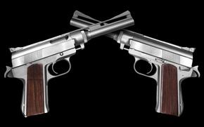 Картинка gun, pistol, magnum, steel, handgun, .45, Death Wish, stainless steel, Wildey Magnum, Wildey, stainless, .45 …