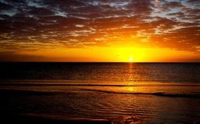 Обои море, солнце, закат