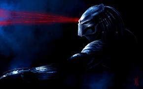 Обои маска, Хищник, лазеры, art, by TheRisingSoul, Wolf Predator