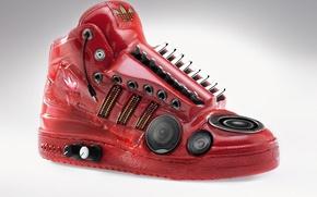 Обои Красная, Аудио, Адидас