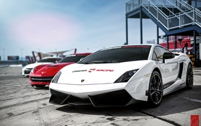Обои Lamborghini, белая, Superleggera, Gallardo, галардо, ламборгиги