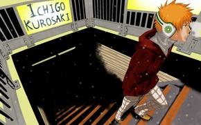 Картинка Bleach, в наушниках, Ichigo Kurosaki