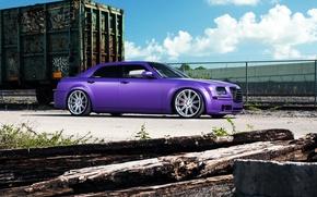 Картинка Chrysler, wheels, side, tuning, 300, vossen, purple