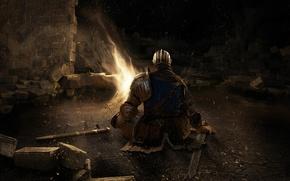 Картинка меч, рыцарь, Dark Souls, даспехи
