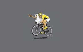 Картинка минимализм, велосипед, инопланетянин, велик, гонка, спортсмен, фантастика, полет, тень, одеяло, велосипедист, Стивен Спилберг, ExtraTerrestrial