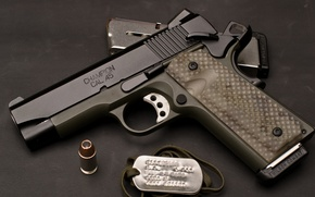 Картинка пистолет, оружие, тюнинг, патрон, обойма, 1911, Custom, champion, Springfield, cal.45, Armory, TRP