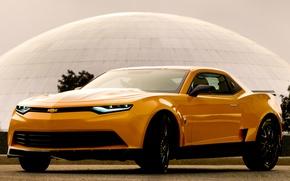 Обои chevrolet, camaro, bumblebe, concept, car, трансформеры 4