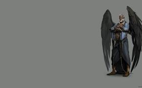 Картинка крылья, арт, мужчина, цепи, оковы, раб, ира