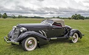 Картинка ретро, классика, Auburn, 1935 Auburn 851 SC Boattail Speedster