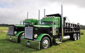 Картинка грузовик, хром, передок, тягач, Peterbilt, Петербилт