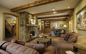 Картинка design, style, interior, fireplace, Colorado, living space, Ski Town USA