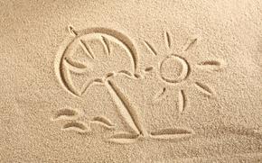 Обои sand, рисунок, drawing, texture, песок