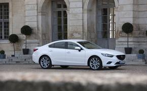 Картинка Авто, Белый, Седан, Mazda, Car