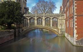 Картинка мост, Англия, Кембридж