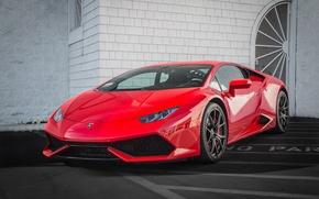 Картинка Lamborghini, red, Huracán, no parking