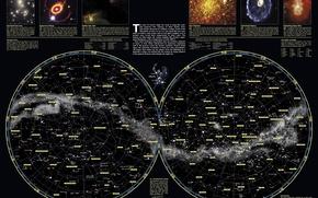 Картинка наука, карта, небосвода, созвездий