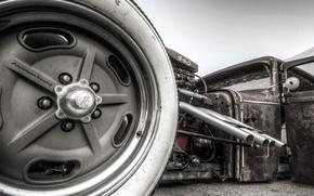 Картинка car, машина, мощь, турбина, hot, классика, rat, rod