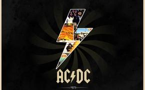 Картинка Rock, классика, AC/DC, 1973, обложки альбомов