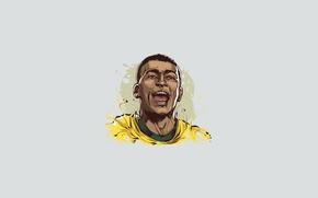 Картинка Brazil, Soccer, Minimalism, Romario