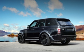 Картинка Land Rover, Back, Lumma Design, Sky, Black, Range Rover, Tuning