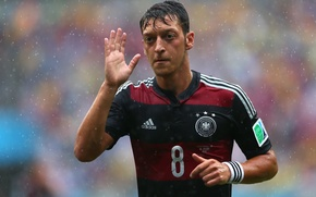 Картинка Германия, Дождь, Футбол, Бразилия, Germany, Football, Deutschland, Sport, Футболист, Brasil, ФИФА, FIFA, Ливень, Игрок, Mesut …