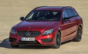 Картинка Mercedes-Benz, Red, AMG, 4Matic, C450