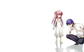 Картинка девушка, аниме, парень, Angel Beats, Yui, Hinata Hideki